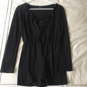 Black mini romper